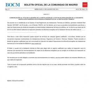 Normativa de la comunidad de Madrid sobre instalaciones térmicas