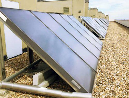 Energía solar térmica para proporcionar calefacción y ACS a un edificio de 80 viviendas