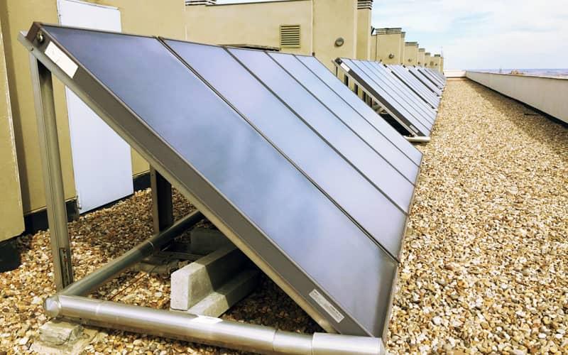 Paneles solares calefacción ACS