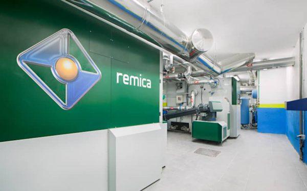 calefacción central biomasa